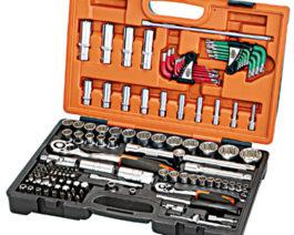 KS-42133, 133pc 1/2″ & 1/4″dr. Socket Set